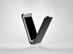 Etui cuir noir avec rabat iPhone 6