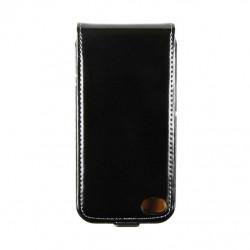 Etui cuir noir avec rabat iPhone 5