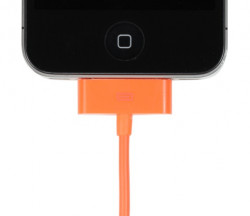 Cable ORANGE de recharge et synchro pour Apple