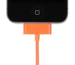 Cable ORANGE de recharge et synchro pour Apple