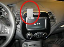 Fixation voiture Renault Captur - Pas compatible avec le R-LINK. Réf Brodit 855340