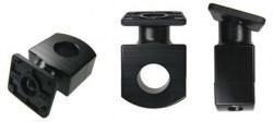 Support pour moto avec plaque inclinable pivotant, trous pré-percés AMPS. 31,8 mm de diamètre. Réf 215342