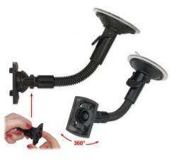Fixation ventouse flexible de 20cm avec rotule.