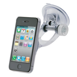 Support voiture ventouse transparent iPhone 4, 4S