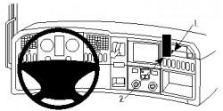 Accessoires de montage  Brodit Scania G-series Accessoires de montage Réf 213474