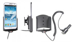 Support voiture  Brodit Samsung Galaxy Note II GT-N7100  avec chargeur allume cigare - Avec rotule orientable. Réf 512432