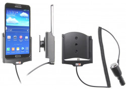 Support voiture  Brodit Samsung Galaxy Note 3 SM-N9005  avec chargeur allume cigare - Avec rotule orientable. Réf 512564