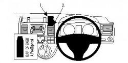 Fixation voiture Proclip  Brodit Volkswagen Caravelle  PAS pour les modèles avec compartiment de rangement avec couvercle. Réf 654432