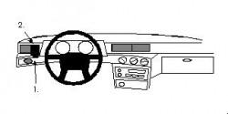 Fixation voiture Proclip  Brodit Volvo 740 Réf 801000