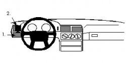 Fixation voiture Proclip  Brodit Volvo 850 Réf 801914