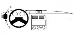 Fixation voiture Proclip  Brodit Citroen ZX Réf 801949