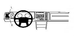 Fixation voiture Proclip  Brodit Volvo 440/460 Réf 802033