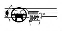 Fixation voiture Proclip  Brodit Volvo 960 Réf 802081