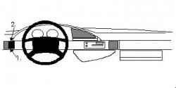 Fixation voiture Proclip  Brodit Citroen Evasion Réf 802117