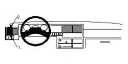 Fixation voiture Proclip  Brodit Volkswagen Caravelle Réf 802211