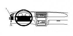 Fixation voiture Proclip  Brodit Honda Odyssey Réf 802229