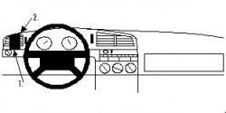 Fixation voiture Proclip  Brodit Volkswagen Passat Réf 802237