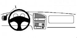 Fixation voiture Proclip  Brodit Citroen Saxo Réf 802310