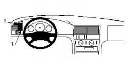 Fixation voiture Proclip  Brodit Mercedes Benz C-Class (180-320) Réf 802345