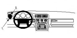 Fixation voiture Proclip  Brodit Volvo C70 Réf 802408