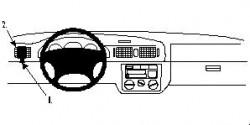 Fixation voiture Proclip  Brodit Skoda Octavia I  SEULEMENT pour Classic 01-04, 97-00 LX, SLX 97-98. Réf 802438