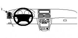 Fixation voiture Proclip  Brodit Toyota Corolla Réf 802494