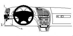 Fixation voiture Proclip  Brodit Citroen Xsara Réf 802514