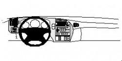 Fixation voiture Proclip  Brodit Saab 9-5 Réf 802529