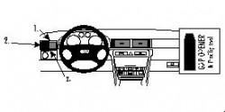 Fixation voiture Proclip  Brodit Audi A6 Réf 802592