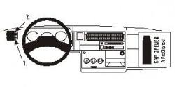 Fixation voiture Proclip  Brodit Volkswagen Caravelle Réf 802852