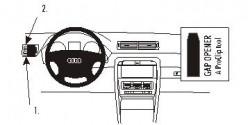 Fixation voiture Proclip  Brodit Audi A4 Avant Réf 802916