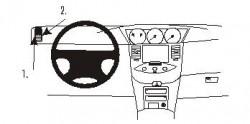 Fixation voiture Proclip  Brodit Nissan Primera Réf 803048