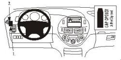 Fixation voiture Proclip  Brodit Toyota Previa Réf 803067