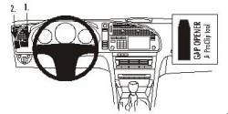 Fixation voiture Proclip  Brodit Saab 9-3 Réf 803089
