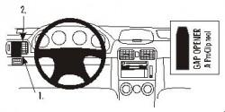 Fixation voiture Proclip  Brodit Subaru Forester Réf 803139