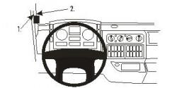 Fixation voiture Proclip  Brodit MAN TG-series Réf 803149