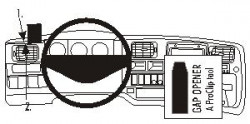 Fixation voiture Proclip  Brodit Renault Magnum Réf 803153