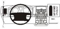 Fixation voiture Proclip  Brodit Volkswagen Touareg Réf 803179