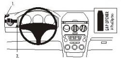 Fixation voiture Proclip  Brodit Mazda 6 Réf 803187