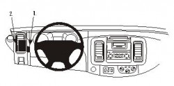 Fixation voiture Proclip  Brodit Nissan Primastar Réf 803198
