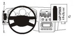 Fixation voiture Proclip  Brodit Volkswagen Touran Réf 803268