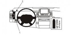 Fixation voiture Proclip  Brodit Toyota Prius Réf 803800
