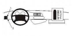 Fixation voiture Proclip  Brodit Citroen Jumpy Réf 803801