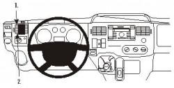 Fixation voiture Proclip  Brodit Ford Transit Réf 803906