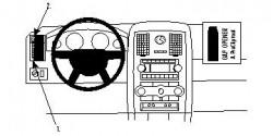 Fixation voiture Proclip  Brodit Chrysler 300 Réf 804061