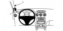 Fixation voiture Proclip  Brodit Peugeot 308  PAS pour 308 CC. Réf 804073