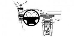 Fixation voiture Proclip  Brodit Volvo S80 Réf 804081