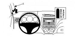 Fixation voiture Proclip  Brodit Subaru Impreza Réf 804084