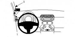 Fixation voiture Proclip  Brodit Fiat 500 Réf 804125