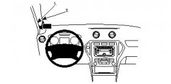 Fixation voiture Proclip  Brodit Ford Mondeo Réf 804131